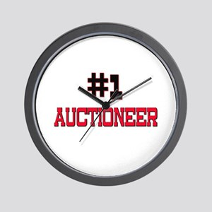 Number 1 AUCTIONEER Wall Clock