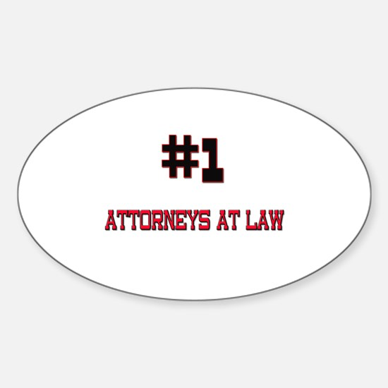 Number 1 ATTORNEYS AT LAW Oval Decal