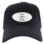 Dogs are Miracles with Paws Baseball Hat