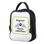 Dogs are Miracles with Paws Neoprene Lunch Bag