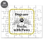 Dogs are Miracles with Paws Puzzle
