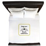 Dogs are Miracles with Paws King Duvet