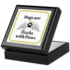 Dogs are Miracles with Paws Keepsake Box
