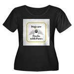 Dogs are Miracles with Paws Plus Size T-Shirt