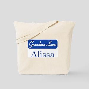 Grandma Loves Alissa Tote Bag