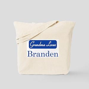 Grandma Loves Branden Tote Bag