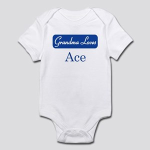 Grandma Loves Ace Infant Bodysuit