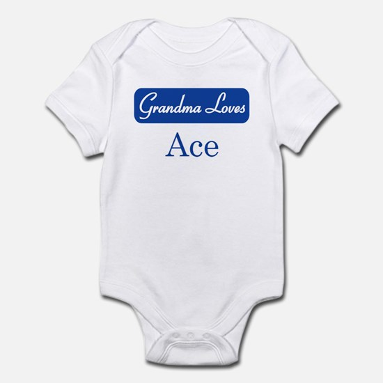 Grandma Loves Ace Infant Bodysuit