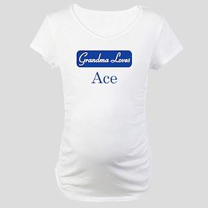 Grandma Loves Ace Maternity T-Shirt