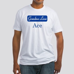 Grandma Loves Ace Fitted T-Shirt