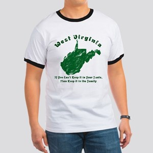 Vintage West Virginia Ringer T