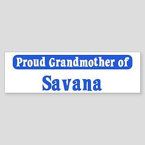Grandmother of Savana Bumper Sticker