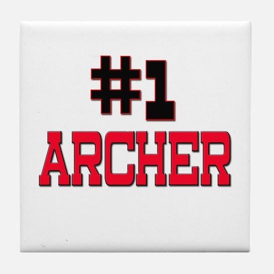 Number 1 ARCHER Tile Coaster