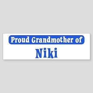 Grandmother of Niki Bumper Sticker