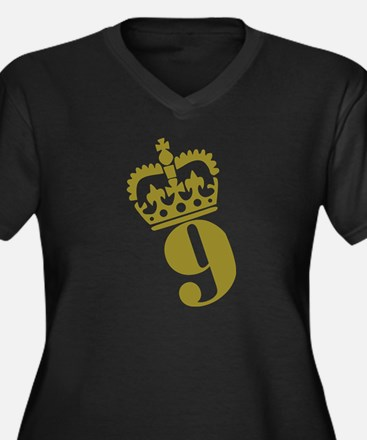 9th Birthday Women's Plus Size V-Neck Dark T-Shirt
