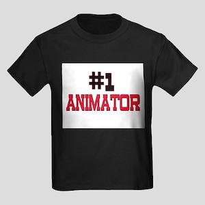 Number 1 ANIMATOR Kids Dark T-Shirt
