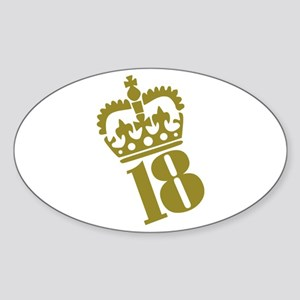 18th Birthday Oval Sticker