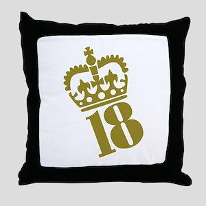 18th Birthday Throw Pillow