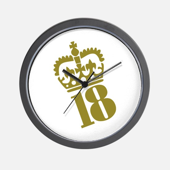 18th Birthday Wall Clock