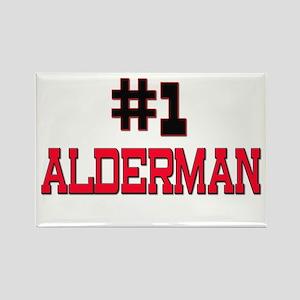 Number 1 ALDERMAN Rectangle Magnet