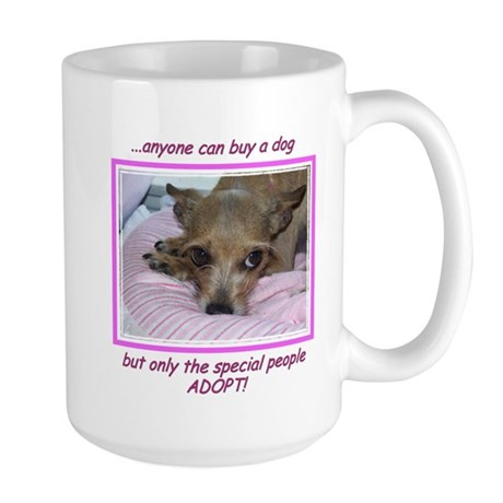 Only SPECIAL people adopt! Large Mug