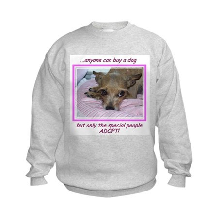 Only SPECIAL people adopt! Kids Sweatshirt