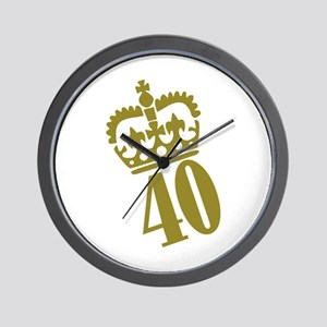 40th Birthday Wall Clock