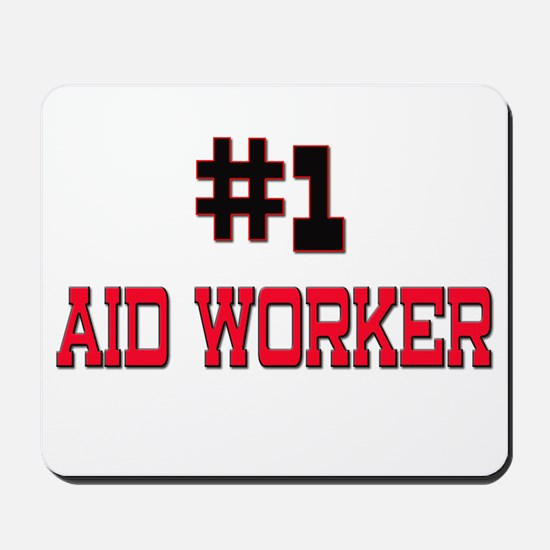 Number 1 AID WORKER Mousepad