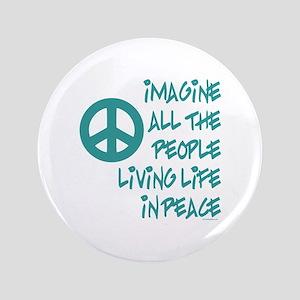"""Imagine Peace 3.5"""" Button"""