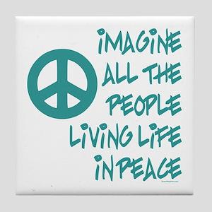 Imagine Peace Tile Coaster