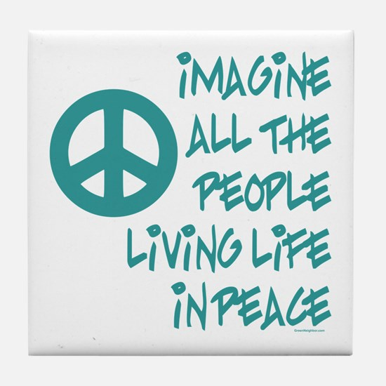Imagine Peace Tile Coaster