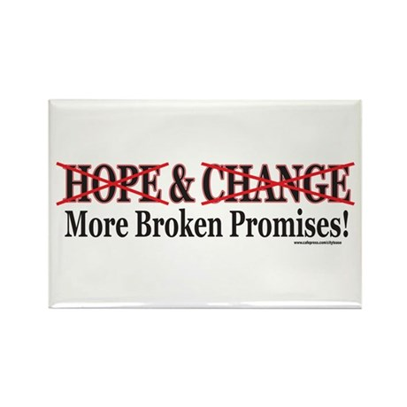 Hows that HOPE and Change Wor Rectangle Magnet (10