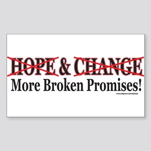 Hows that HOPE and Change Wor Rectangle Sticker