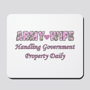 Army Wife - Government Property Mousepad