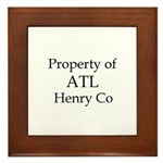 Property of ATL Henry Co Framed Tile