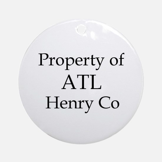 Property of ATL Henry Co Ornament (Round)
