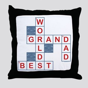 Crossword Grandpa Throw Pillow