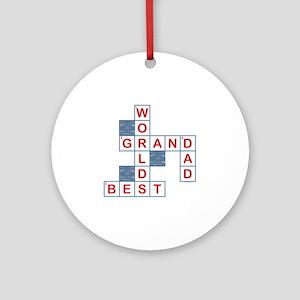 Crossword Grandpa Ornament (Round)
