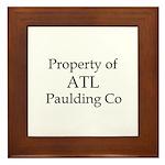 Property of ATL Paulding Co Framed Tile