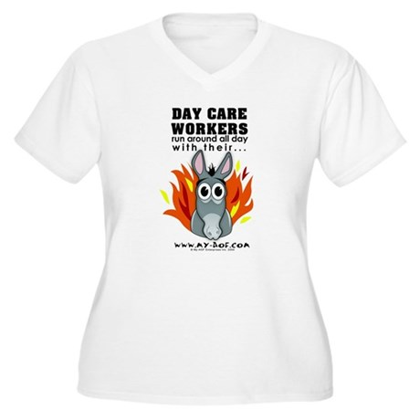 Day Care Workers Women's Plus Size V-Neck T-Shirt