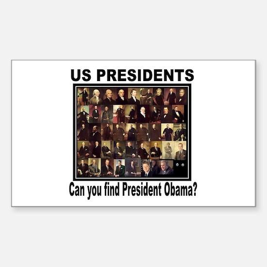 Anti Barack Obama Rectangle Decal