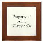 Property of ATL Clayton Co Framed Tile