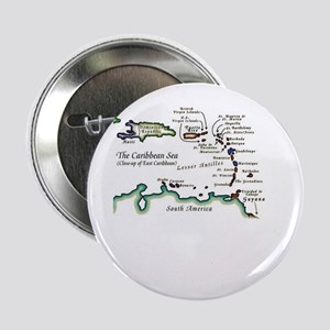 """Caribbean Map 2.25"""" Button (10 pack)"""