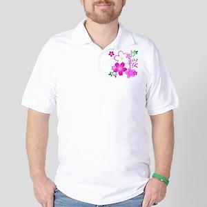 Kanji For Cherry Blossom Golf Shirt