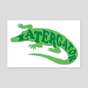 Later Gator Mini Poster Print