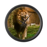 King of the Jungle Large Wall Clock