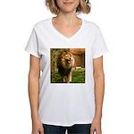 King of the Jungle Women's V-Neck T-Shirt