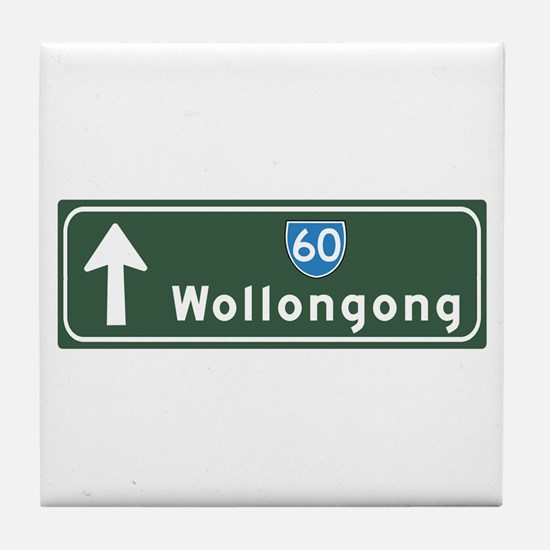 Wollongong, Australia Hwy Sign Tile Coaster