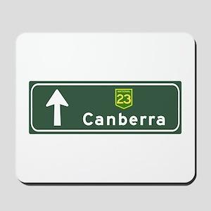 Canberra, Australia Hwy Sign Mousepad