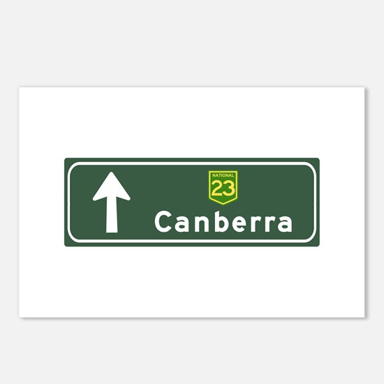Canberra, Australia Hwy Sign Postcards (Package of